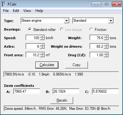 FCalc Screen